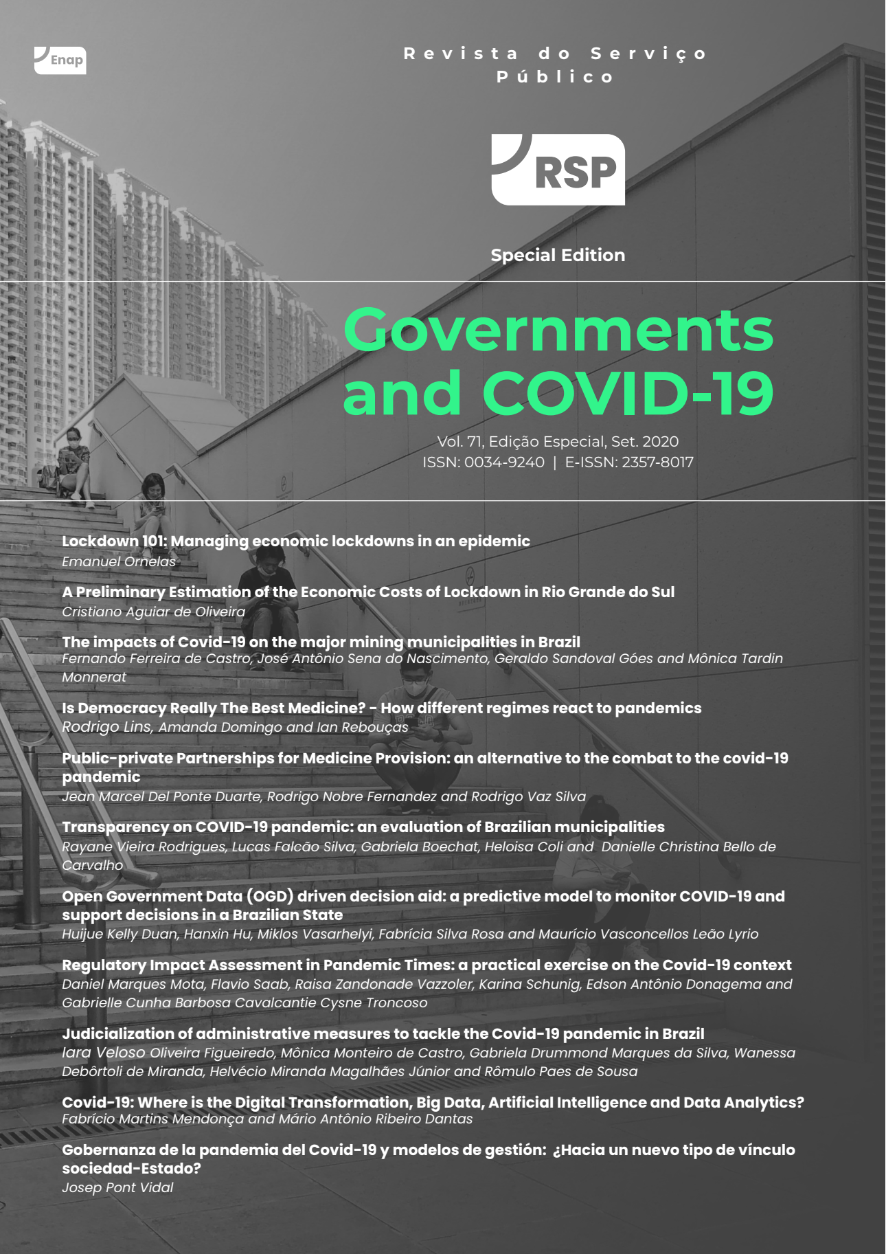 "Visualizar v. 71 (2020): Special Edition - ""Governments and Covid-19"""