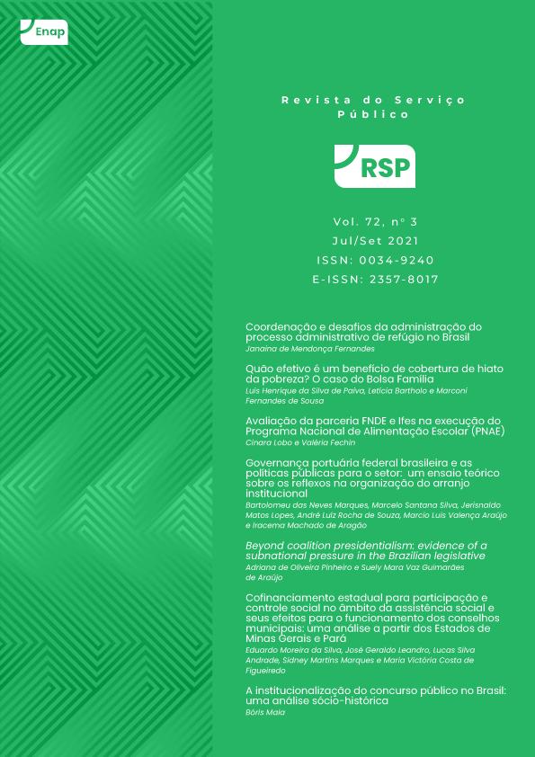 v. 72 n. 3 (2021): Revista do Serviço Público